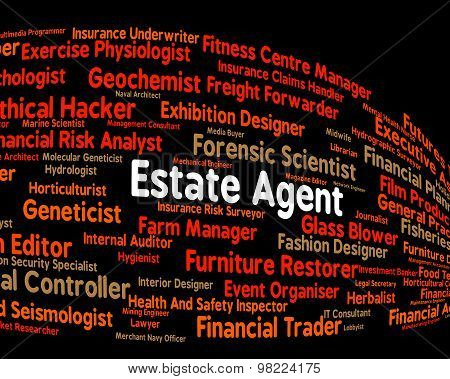 Estate Agent Shows Work Hiring And Word