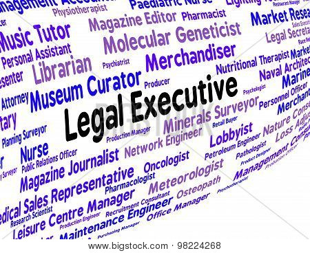 Legal Executive Means Managing Director And Attorney