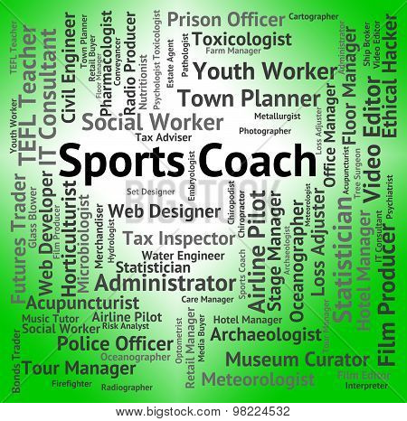 Sports Coach Represents Physical Activity And Education
