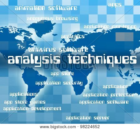 Analysis Techniques Represents Data Analytics And Mo