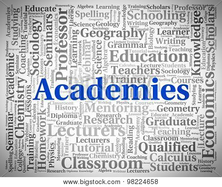 Academies Word Shows Military Academy And College
