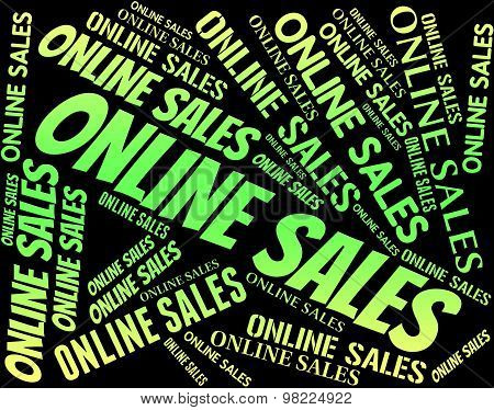 Online Sales Shows World Wide Web And Bargain