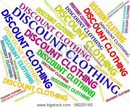 Discount Clothing Shows Garment Cheap And Text