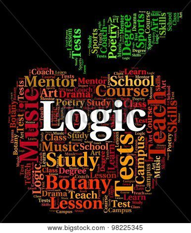 Logic Word Means Common Sense And Logical
