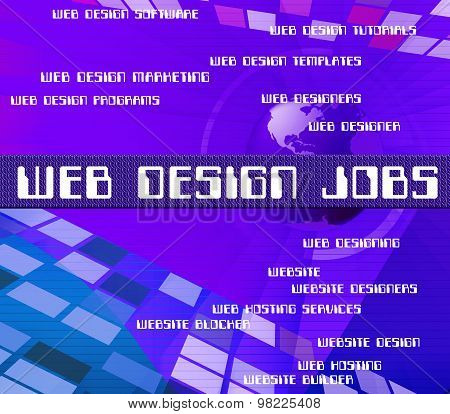 Web Design Jobs Shows Www Career And Designers