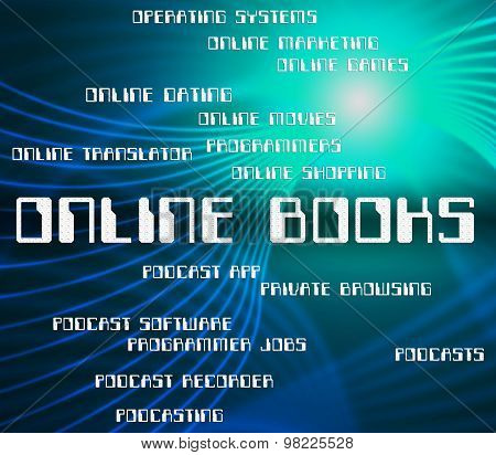 Online Books Represents World Wide Web And Internet