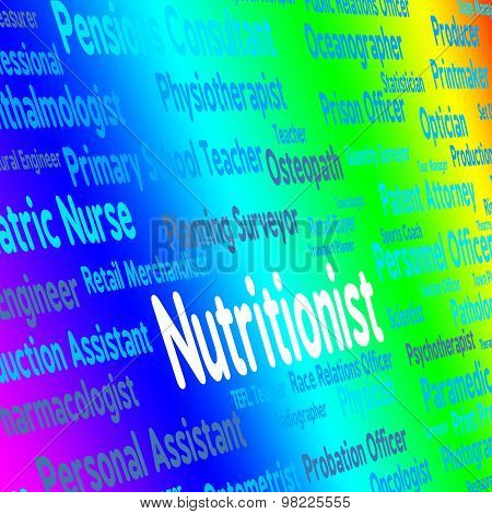 Nutritionist Job Indicates Position Words And Experts