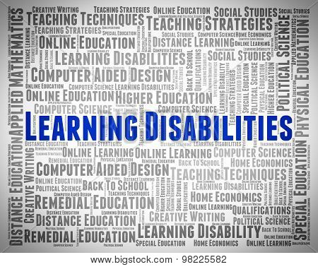 Learning Disabilities Words Means Special Education And Development
