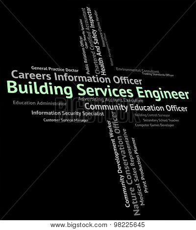 Building Services Engineer Indicates Help Desk And Advice