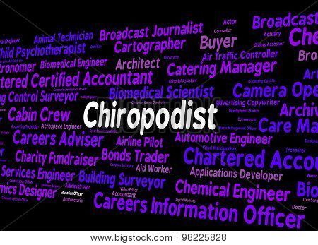 Chiropodist Job Means Word Words And Specialist
