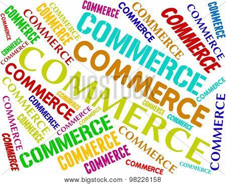 Commerce Words Indicates Purchase Ecommerce And Import
