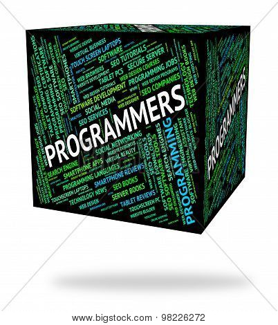 Programmers Cube Shows Programming Job And Software