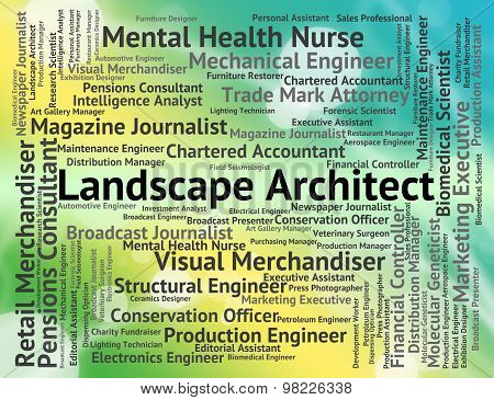 Landscape Architect Means Vista Designer And Natural