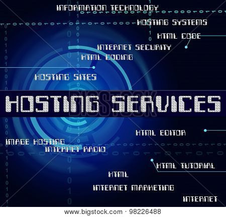 Hosting Services Means Web Words And Assistance