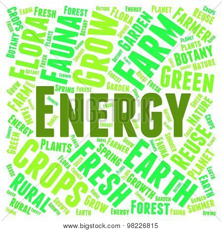 Green Energy Represents Earth Friendly And Electricity