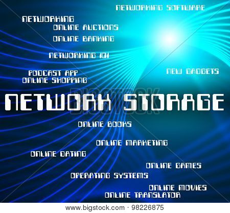 Network Storage Represents Global Communications And Computers