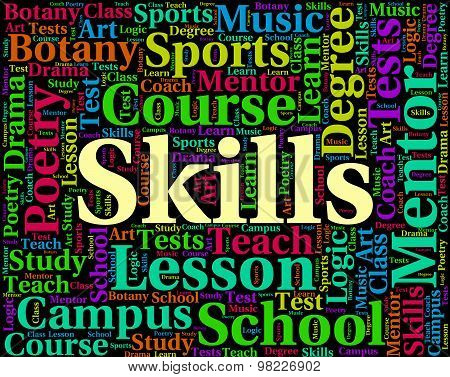 Skills Word Indicates Words Text And Ability