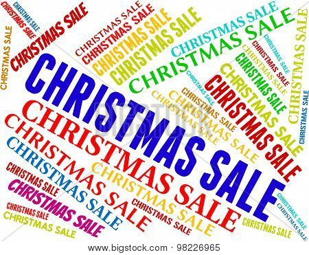 Christmas Sale Represents Bargain Save And Text
