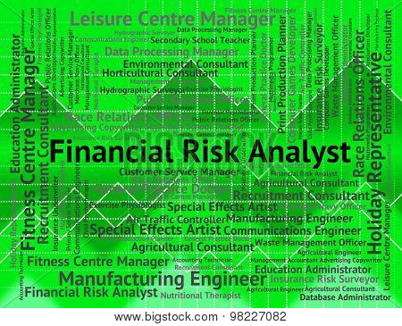 Financial Risk Analyst Means Analysers Analyse And Investment