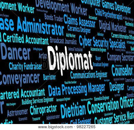Diplomat Words Indicates Consul Jobs And Occupations