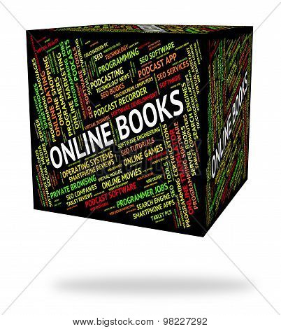 Online Books Represents World Wide Web And Websites