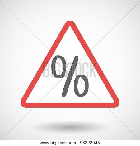 Warning Signal With A Discount Sign