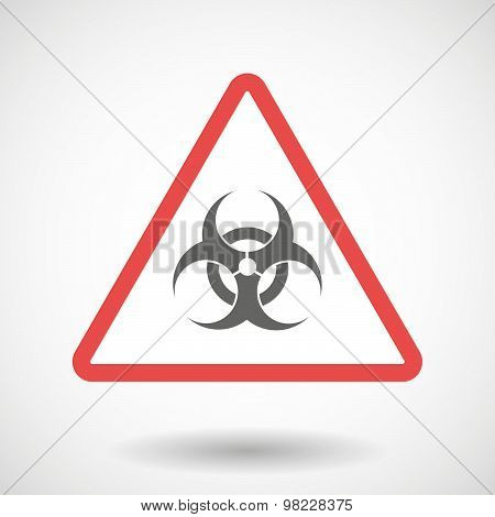 Warning Signal With A Biohazard Sign