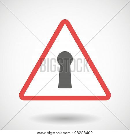 Warning Signal With A Key Hole