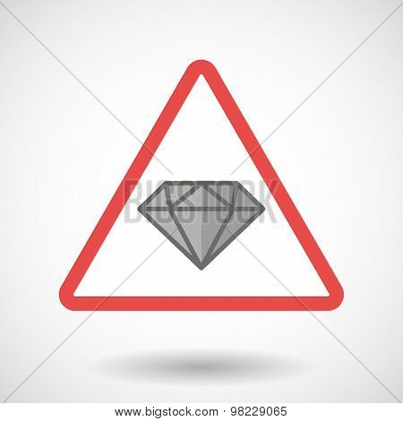 Warning Signal With A Diamond