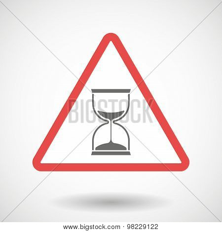 Warning Signal With A Sand Clock