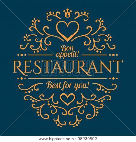 Restaurant design template. Vector illustration