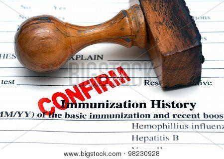 Immunization History Confirm