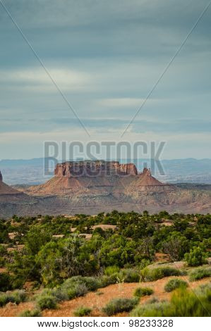Desert And Rock Formation In Canyonlands Island In The Sky