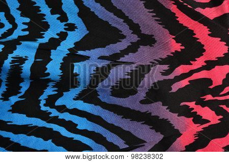 Blue,purple,pink Zebra Pattern