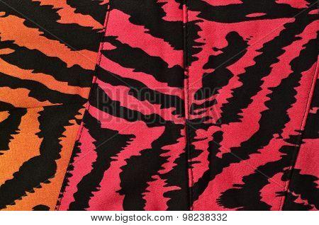 Pink, Orange And Black Zebra Pattern