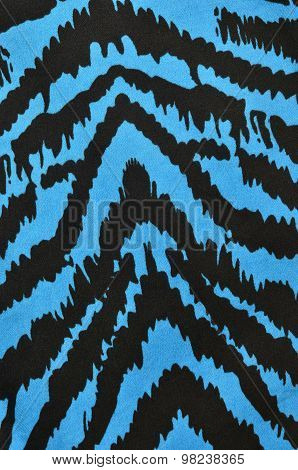 Blue And Black Zebra Pattern.