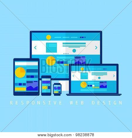 Flat design concept of cloud service. Vector illustration - Illustration