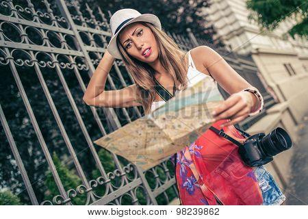 Lost Woman Tourist