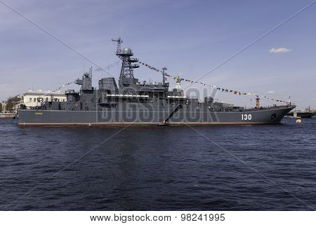 Saint-petersburg, Russia - May 09, Warships During In Parade Dedicated To Victory Day, May 09, 2015,