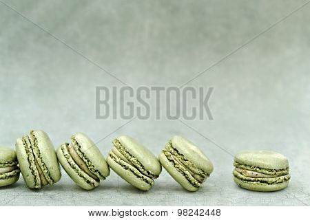 Pistachio Flavored Macarons