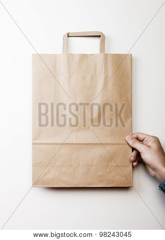 Mock up of paper bag