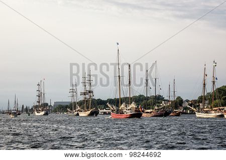 Sailing Ships On The Hanseatic Sail