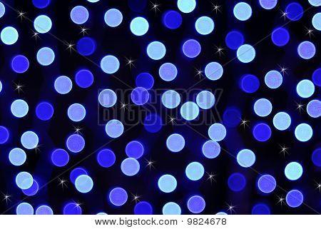 blurred blue lights