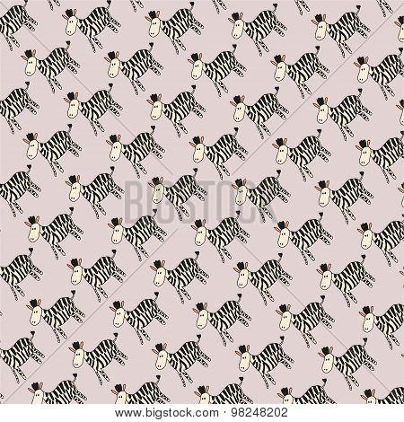Zebra Pattern - Illustration - Eps 10