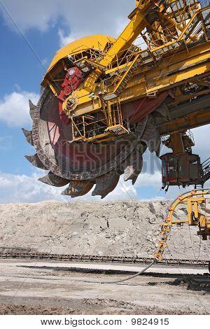 Detail Of Big Excavator In Coal Mine In Europe