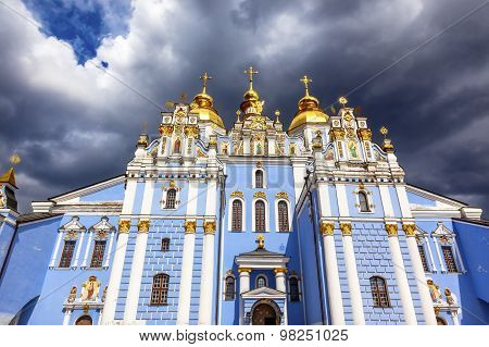 Saint Michael Cathedral Saint Barbara Painting Kiev Ukraine