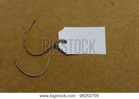 White Label Isolated Carton Background