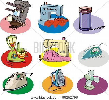 Set Of Home Appliances [