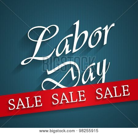 Happy Labor Day sale poster