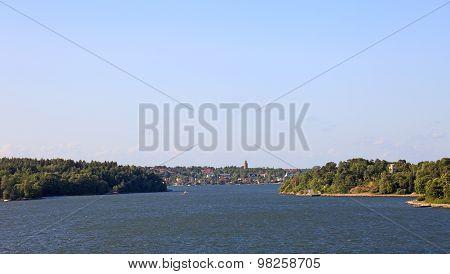 Baltic Sea Archipelago Landscape In Sweden, Europe.